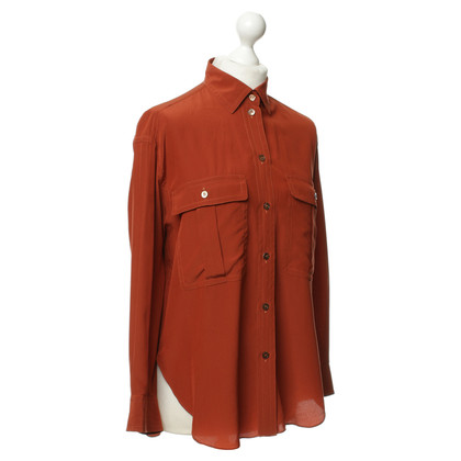 Jil Sander Silk blouse in rust
