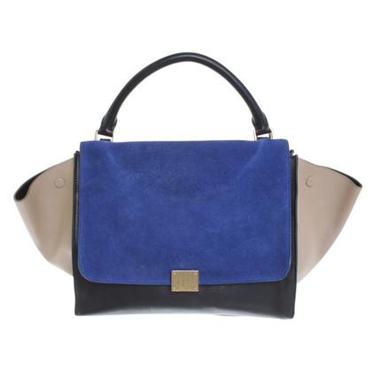 "Céline ""Medium Trapeze Bag"" in Tricolor"