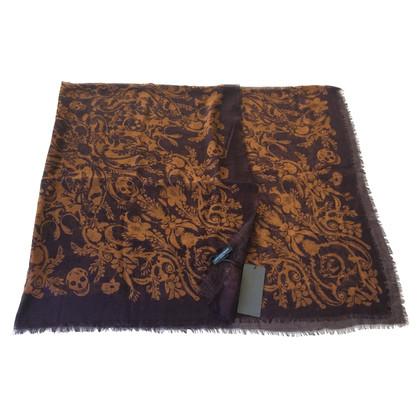 Alexander McQueen cashmere-mix cloth with skuills