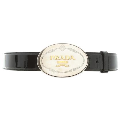 Prada Patent leather belt in black