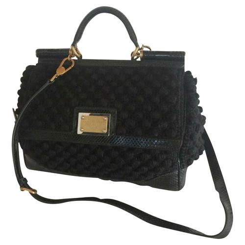 4bb2b8a440b Dolce & Gabbana Miss Sicily Bag - Second Hand Dolce & Gabbana Miss ...