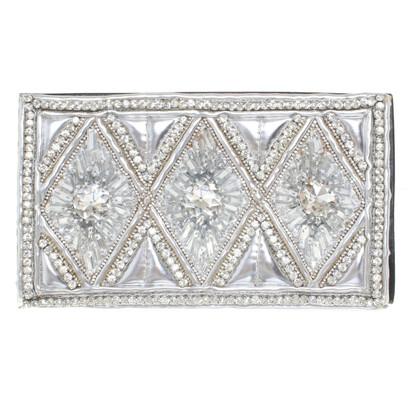 Balmain X H&M clutch met sieraden stenen