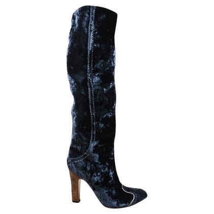 Bottega Veneta Fluwelen laarzen