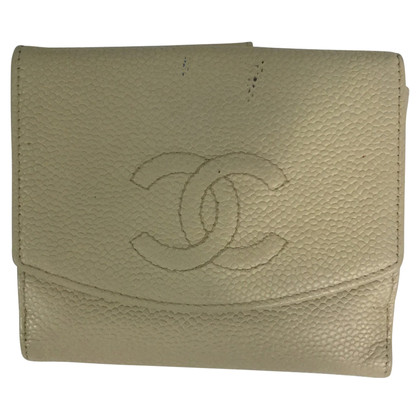 Chanel Wallet white caviar leather