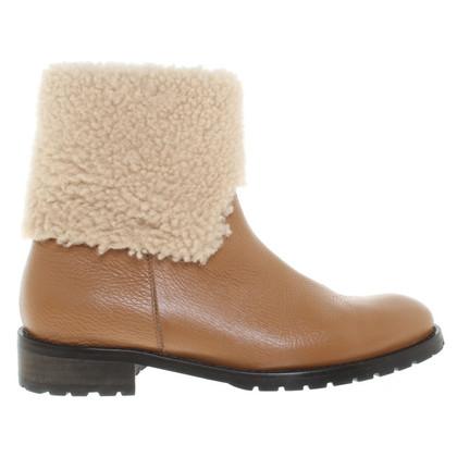 Escada Sheepskin boots in cognac