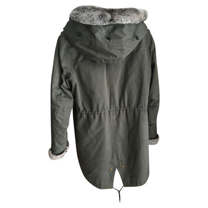 Woolrich Green parka with fur trim