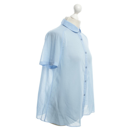 Acne Short sleeve blouse in light blue