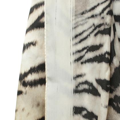 Just Cavalli Sciarpa in seta stampa tigre