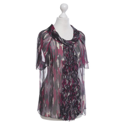 Laurèl Silk blouse with colorful patterns