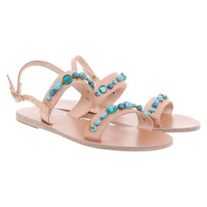 Ancient Greek Sandals Sandalen met edelstenen