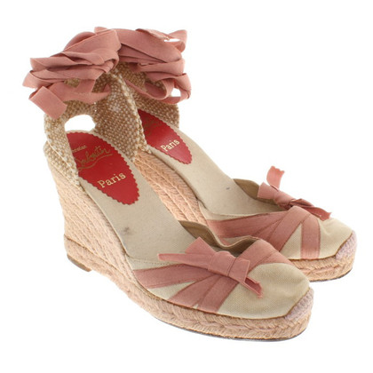 Christian Louboutin Wedges in the espadrille look