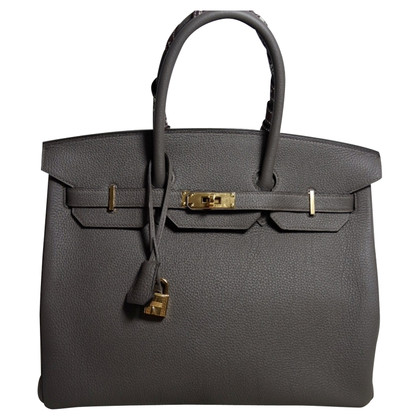 "Hermès ""Birkin Bag 35 Leer van Togo Etaine"""