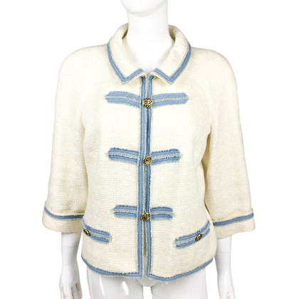 Chanel giacca bouclé Bianco