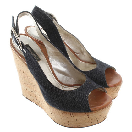 Dolce & Gabbana Wedges in denimlook