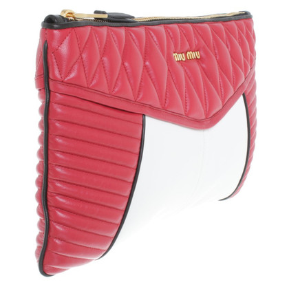 Miu Miu clutch in black / red / white