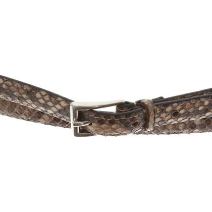 Fausto Colato riem gemaakt van python leer