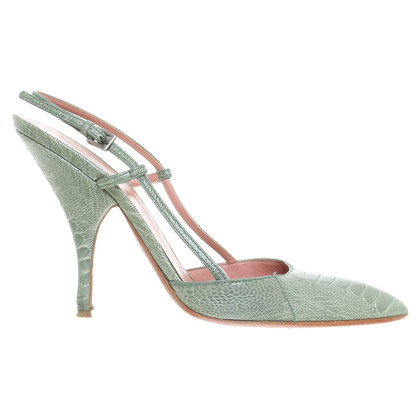 Alaïa pumps met Python-Optik