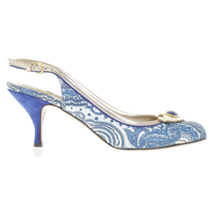 Etro pumps in blauw