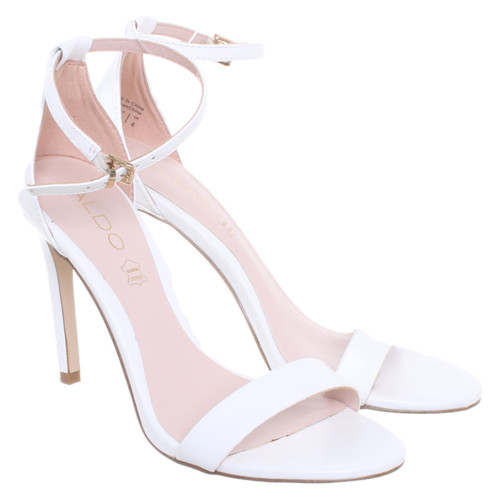 7e8ec80df82f Aldo Sandals Leather in White - Second Hand Aldo Sandals Leather in ...
