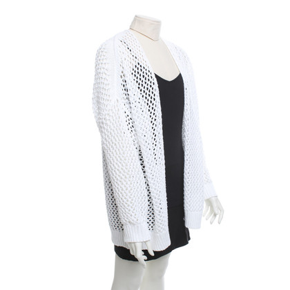 360 Sweater Cardigan en blanc
