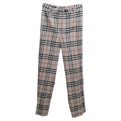 Burberry trousers with check pattern