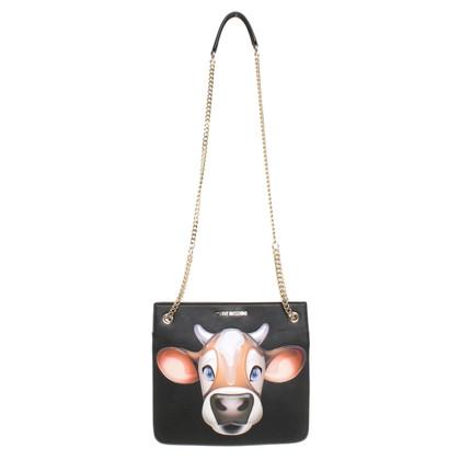 Moschino Love Shoulder bag with cow motif