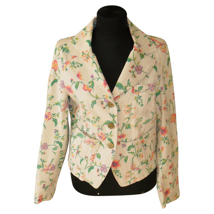 Escada Sport denim jacket with flower pattern