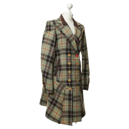 Marithé et Francois Girbaud Plaid coat