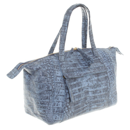 Nancy Gonzalez Blue crocodile leather shoulder bag