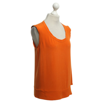 Joseph Top en soie orange