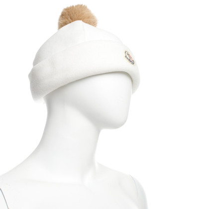 Moncler Fleece hat with pompom