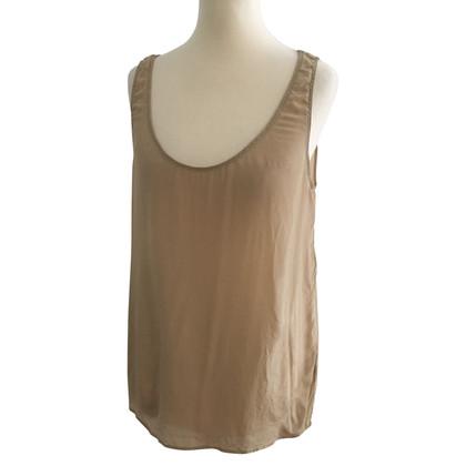 American Vintage Silk top in Nude