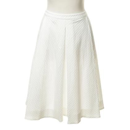 Max Mara Textured skirt in white