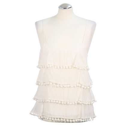 Reiss Straps top in white