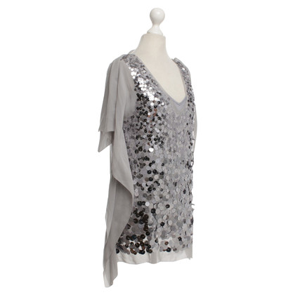 BCBG Max Azria top in gray