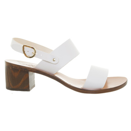 Ancient Greek Sandals Sandales en blanc