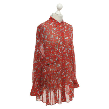 Iro Blouse with a floral pattern