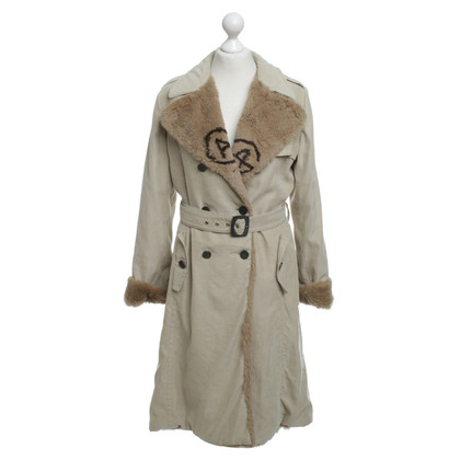 Armani Collezioni Coat with woven fur trim