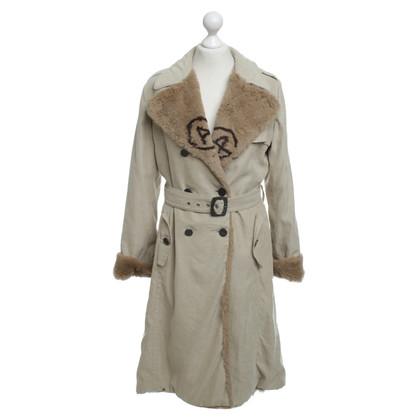 Armani Collezioni Cappotto con finiture in pelliccia ecologica
