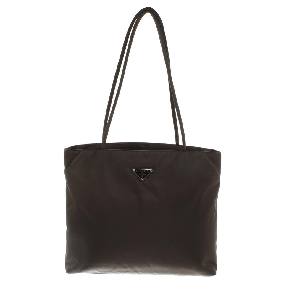 prada handtasche in braun second hand prada handtasche. Black Bedroom Furniture Sets. Home Design Ideas