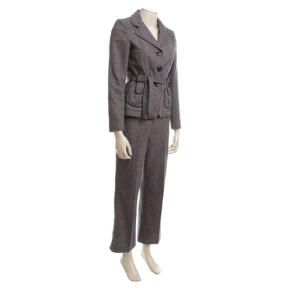 Dorothee Schumacher Trouser suit with herringbone pattern