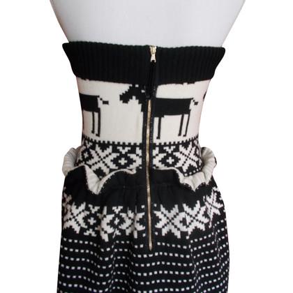 Dolce & Gabbana Abito in maglia motivo renna