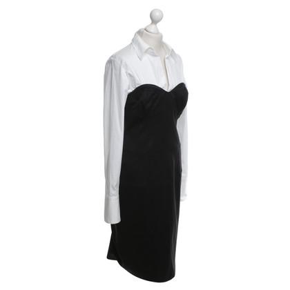 René Lezard Kleid in Schwarz/Weiß