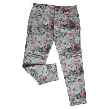 Miu Miu Jeans met een bloemmotief