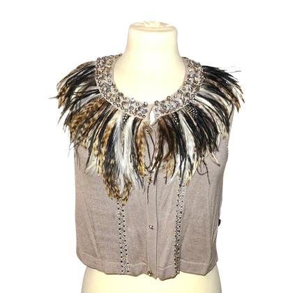 Roberto Cavalli Vest with feathers