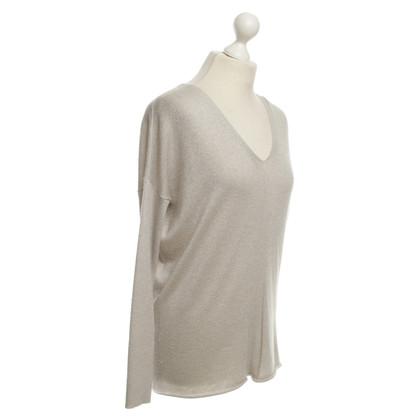 Velvet Pullover in beige