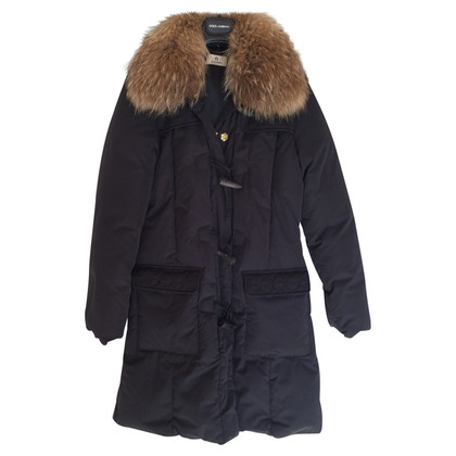 Aigner Down coat with fur collar
