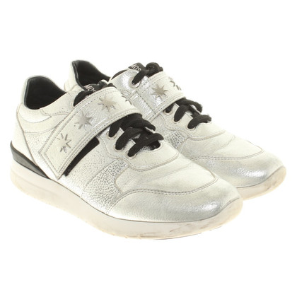 Moschino Silberfarbene Sneakers