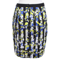 Peter Pilotto skirt in black / blue / yellow