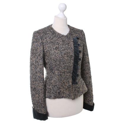 Armani Collezioni Blazer mit Samt-Details